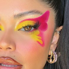 Indie Makeup, Edgy Makeup, Makeup Eye Looks, Eye Makeup Art, Crazy Makeup, Cute Makeup, Pretty Makeup, Skin Makeup, Eyeshadow Makeup