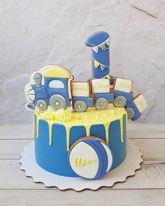 New Birthday Cake Kids Train Ideas Birthday Cakes For Men, Cakes For Boys, Birthday Cupcakes, Cake Kids, Birthday Kids, New Cake, Birthday Cake Decorating, Drip Cakes, Buttercream Cake