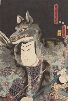 Actor Arashi Rikan Ukiyo-e woodblock print, Japan, by artist Kunisada Utagawa. Japanese Artwork, Japanese Painting, Japanese Prints, Chinese Painting, Japan Illustration, Botanical Illustration, Arte Latina, Ronin Samurai, Oriental