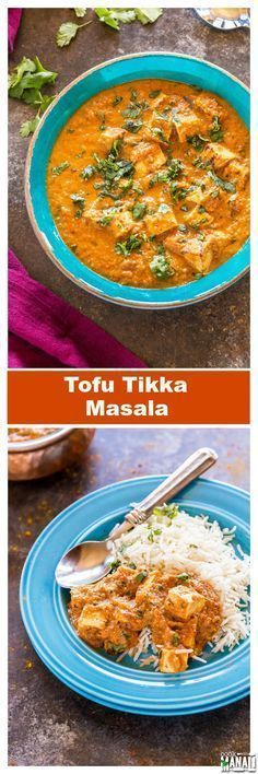 Delicious Tofu Tikka Masala is a vegetarian curry which is best enjoyed with naan, rice or any flatbread of your choice! Gluten-free! Find the recipe on www.cookwithmanali.com