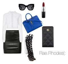 Keep it simple by rae-rhodes on Polyvore featuring polyvore, fashion, style, Carolina Herrera, The Row, Sophia Webster, Yves Saint Laurent, Chanel, Karen Walker, MAC Cosmetics, women's clothing, women's fashion, women, female, woman, misses and juniors