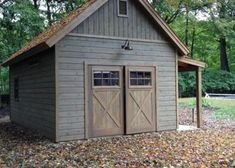 Portable Wood Shed - Standards For Convenient Systems For Wood Shed Plans - Knowded Backyard Barn, Backyard Sheds, Garage Shed, Barn Garage, Garage Exterior, Exterior Barn Doors, Steel Garage, Garage Art, Granny Pods
