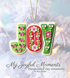 Handcrafted Polymer Clay Ornament by Kay Miller, My Joyful Moments .