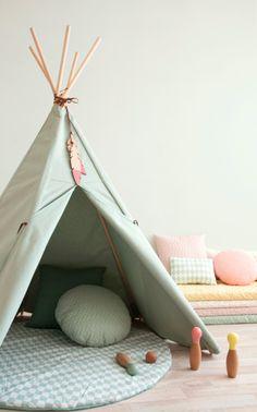 Tipi Nevada - Nobodinoz Pure Line - Provence mint groen Nevada, Nursery Themes, Nursery Decor, Nursery Ideas, Provence, Playroom Organization, Playroom Ideas, Toddler Playroom, Kids Tents