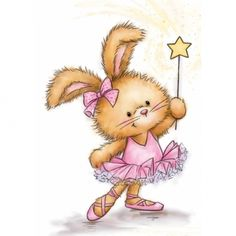 Wild Rose Studio Clear Stamp - Bunny Ballerina (CL501) - The Rubber Buggy