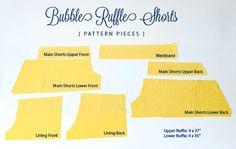 bubble ruffle shorts tutorial - see kate sew