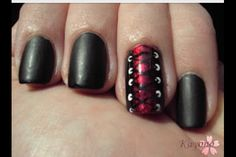 A friend of mine had something similar done on her nails. It looked super pretty!