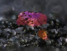 Chalcopyrite - Kreimbach-Kaulbach, Wolfstein, Palatinate, Rhineland-Palatinate, Germany FOV : 3.2 mm