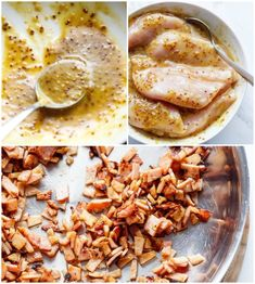 Creamy Honey Mustard Chicken With Crispy Bacon - Cafe Delites Creamy Honey Mustard Chicken, Honey Mustard Recipes, Honey Mustard Salmon, Chicken Bacon, Butter Chicken, Lemon Chicken, Creamy Chicken, Chicken Breast Recipes Healthy, Chicken Recipes