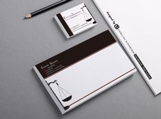 Business cards & envelope for lawyer