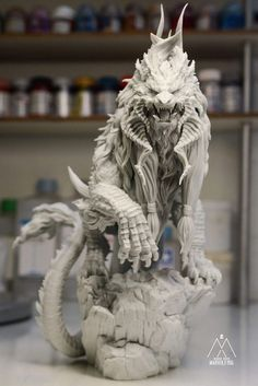 The History of Gargoyles & Grotesques (Facts, Information, Pictures) - Going To Tehran - Mirilla Ashwood Fantasy Creatures, Mythical Creatures, Zbrush, Sculpture Clay, Sculptures, Keramik Design, Dragon Art, Lion Dragon, Modelos 3d