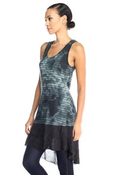 - 56% Rayon, 26% Polyester, 18% Cotton - Soft, Light and Comfortable - Beautiful Sheer Flare on bottom - Made in USA