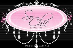 So Chic Hot Pink and Black Spa Salon Beauty Boutique  Logo