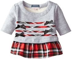 Andy  Evan Baby Girls Grey and Red Xmas Plaid Tunic Red 1824 Months * More info could be found at the image url. (This is an affiliate link) #BabyGirlHoodiesActive