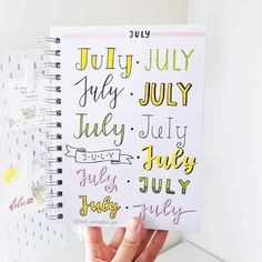 Best Bullet Journal Fonts and Headers for Every Month - The Smart Wander April Bullet Journal, Bullet Journal Writing, Bullet Journal Headers, Bullet Journal Banner, Bullet Journal Aesthetic, Bullet Journal Printables, Bullet Journal Ideas Pages, Bullet Journal Inspo, Bullet Journal Layout