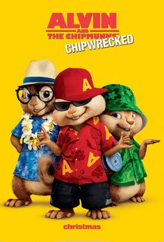 Alvin and the Chipmunks: Chip-Wrecked (2011). Saw this with the kids.  They loved it and I do have to admit I laughed at the double rainbow comment!
