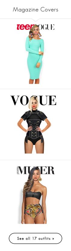 """Magazine Covers"" by vl-daily ❤ liked on Polyvore featuring Madeleine Thompson, Samira 13, Ted Baker, River Island, Lisa Marie Fernandez, CHROMAT, Juicy Couture, Blue Life, Dolce&Gabbana and Roland Mouret"