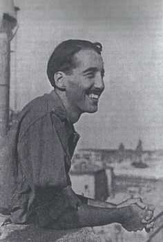 Christopher Lee as a young officer in Vatican City 1944 shortly after the liberation of Rome