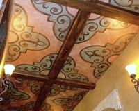 Ceiling I did inspired by Spanish tile - (color ref)