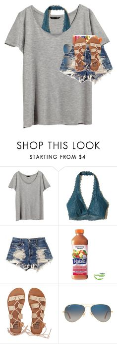 """""""can't wait till summer comes!!☀️"""" by amandalynnkisner ❤ liked on Polyvore featuring H&M, Hollister Co., Levi's, Billabong and Ray-Ban"""