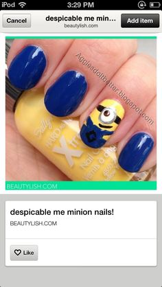 just no stop please this is too great.  Despicable me nails.