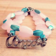 Handmade Bracelets with Pastel Hearts and by CountryMermaids
