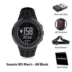 Suunto M5 with Heart Rate, MoveStick & GPS Pod- All Black gives you daily exercise instructions with ideal duration and intensity.