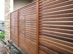 Colorbond fence with wood privacy screen google search for Pool fence screening ideas