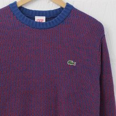 Lacoste Live Mixed Colour Knitted Sweater (Inkwell/Fireman) #lacostelive #lacoste #knitwear #newentrystore
