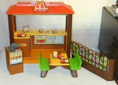 Barbie McDonald's playset. Em still has one in her Barbie closet right now!