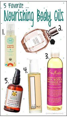 5 Favorite ... Nourishing Body Oils! @honestcompany @sheamoisture @whishbeauty @botanicorganic #bodyoil #moisturizer