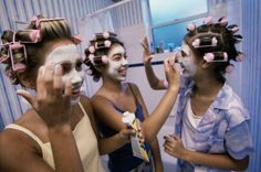 Instead of expensive spa treatments, get ready at home with a bunch of friends. Save money for Prom!
