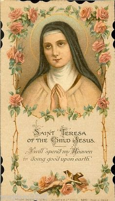 Relic Card of St Therese of The Child Jesus Beautiful Holy Card Antique Signed | eBay