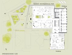BG/BRG sillgasse Competition, Diagram, Map, Ground Floor, Linz, Architecture, Projects, Maps, Peta