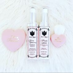 Flawless serums and Too Faced goodies = face perfection!
