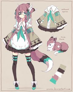 [CLOSED] ADOPTABLE | Purple Fox by ocono.deviantart.com on @DeviantArt
