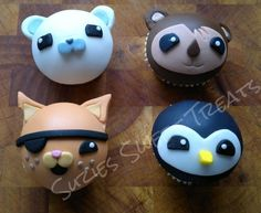 Octonauts: Kwazii ( pirate cat ) shellington (koala) peso (penguin). Barnacles (captain polar bear)