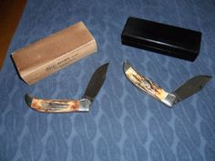Look at these two beauties discovered recently when searching for antique pocket knives