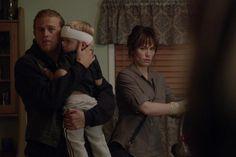 Jax, Tara & Abel. The look on Tara's face when she sees Gemma.