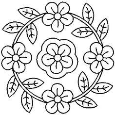 ideas for embroidery leaf wreath Embroidery Leaf, Embroidery Patterns Free, Hand Embroidery Designs, Quilt Patterns, Coloring Book Art, Mandala Coloring, Coloring Pages, Quilting Stencils, Quilting Designs