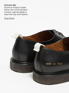 Common Ally Common Projects Cadet Derby. Go-to fall standard in black 82bd149c840