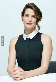 """Cobie Smulders at """"Avengers: Age of Ultron"""" Press Conference in Burbank Maria Hill, Cobie Smulders Avengers, Hollywood Actresses, Actors & Actresses, Pretty Movie, Robin Scherbatsky, Avengers Age, Female Avengers, Elizabeth Gillies"""