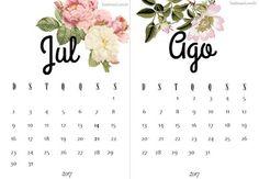 Calendários 2017 para Imprimir   Suéter Azul floral geek clean free printable calendar Brasil