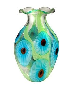 Dale Tiffany Cape Caribe Vase, Green Multi