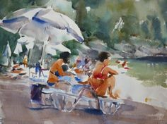 loose watercolor images | Trevor Lingard – painting loose | Watercolors Painting