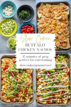 The snack you'll want to eat as a meal! Make my Slow Cooker Buffalo Chicken and eat like a rockstar all week by making recipes like these Slow Cooker Buffalo Chicken Nachos! Slow Cooker Beef, Slow Cooker Recipes, Crockpot Recipes, Cooking Recipes, Yummy Appetizers, Appetizers For Party, Appetizer Recipes, Buffalo Chicken Nachos, Recipe Using Chicken