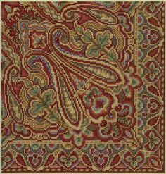 Web page devoted to the work of artist Teresa Wentzler, who creates fantasy-inspired counted cross stitch designs, and intricate pen and ink drawings. Cross Stitch Borders, Cross Stitch Designs, Cross Stitch Patterns, Paisley Pattern, Needlepoint, Needlework, Embroidery Designs, Bohemian Rug, Weaving