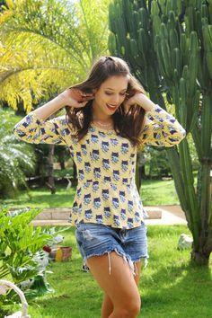 Look do dia: Estampa fofa    por Bruna Cogo   Oi biscoito       - http://modatrade.com.br/look-do-dia-estampa-fofa