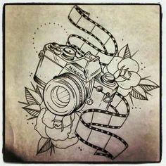 Cámara Nikon tatoo