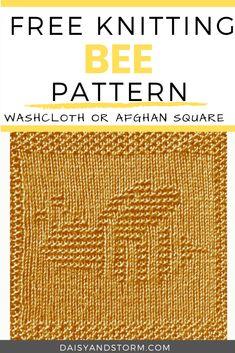 Free Garden Themed Dishcloth and Afghan Squares Knitting Patterns Dishcloth Knitting Patterns, Knit Dishcloth, Free Knitting, Baby Knitting, Knitted Baby, Knit Or Crochet, Filet Crochet, Crochet Afghans, Crotchet